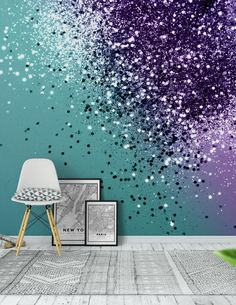 33 Whimsical Mermaid Bedroom Ideas for Girls Girls Room Paint, Girl Bedroom Walls, Girl Bedroom Designs, Girls Bedroom Ideas Paint, Girls Bedroom Purple, Teal Teen Bedrooms, Purple Bedroom Decor, Purple Bedding, Shared Bedrooms