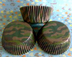 camo cupcake liners