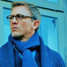 Daniel Craig in Royal Blue with Glasses