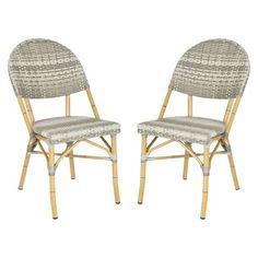 Safavieh Marselle 2-Piece Wicker Patio Side Chair