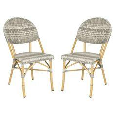Safavieh Marselle 2-Piece Wicker Patio Side Chair