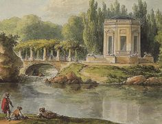 sweet painting of Versailles - le Petit Trianon gravure