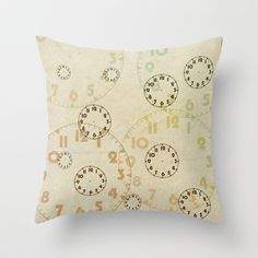 Time On Time Vintage  Throw Pillow by secretgardenphotography [Nicola] - $20.00