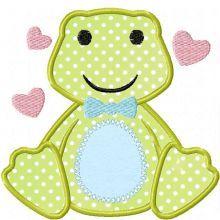 Love Boy Frog Appliqué