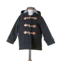 Trenka de paño con capucha color gris marengo. N.Colección