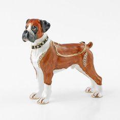 Boxer Dog Trinket Box Gift