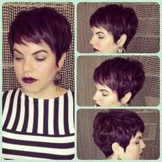 THIS. This is the color I want for me hair. And very similar to my cut, too.