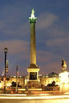 Finding film locations in London is fun! In Spectre, James Bond has some tense moments near Trafalgar Square, with Lord Nelson looking down. Trafalgar Square, Filming Locations, London Travel, James Bond, Cn Tower, Have Fun, The Past, Fiction, Lord