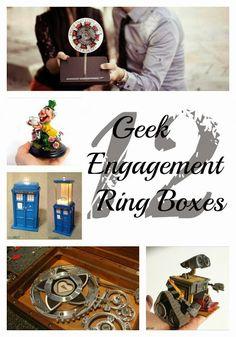 Pandora's Craft Box: Geeky Engagement Ring Boxes Inspiration & Halloween Tag