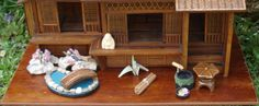 A Small Japanese House by Jill Friendship - Dolls' Houses Past & Present | an outside garden