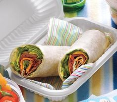 Roll up roast beef, Cheddar, and a tangy horseradish in a tortilla for a takes-only-minutes lunch.