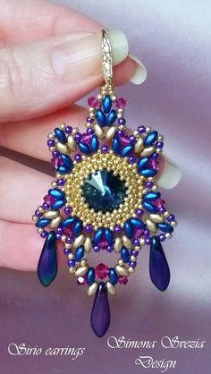 Tutorial SIRIO earrings / orecchini por PerlineeBijoux en Etsy