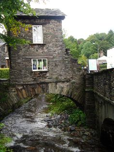 Day 2 - Manchester - Lake District House bridge, Ambleside, the Lakes district, England Fairytale Cottage, England Ireland, Cities, Interesting Buildings, English Countryside, Cumbria, Lake District, British Isles, Architecture