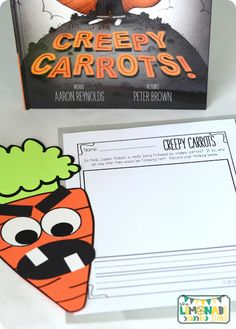Using Creepy Carrots in Kindergarten to teach inferences.  Writing component that can be differentiated for grades k-2.
