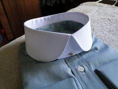 green Weisters shirt, stiff Westport collar