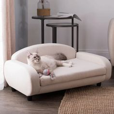 The Pet Sofa Bed is the perfect sleek lounger for your dog or cat. The miniaturized modern sofa design blends perfectly with your home's decor. Your cool cat or hip pooch can lay and stretch comfort Animal Room, Diy Pet, Modern Sofa Designs, Dog Sofa Bed, Sofa Beds, Pet Furniture, Modern Cat Furniture, Modern Cat Beds, Furniture Market