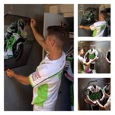 Álvaro giving the interior of his new motorhome a makeover