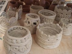 Creative coil pots