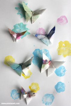 Beat those winter blues and make some of these Lovely Origami Butterflies! Super easy tutorial- you can even learn how to make them out of coffee filters!