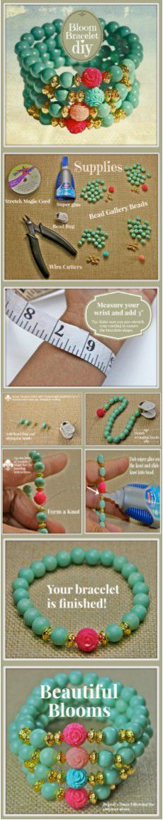 #DIY Bloom #stackingbracelets by @DeniseYezbakMoore featuring #BeadGallery #beads available at @Michaels Stores