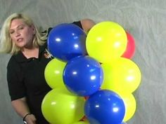 """Balloon San Diego- How to make a balloon arch"". Excellent step by step explanation. I used this process for making columns for my son's wedding reception. (see Board: I & K Wedding Reception)"