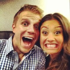 Sean and Catherine. Too cute! I'd love to have a picture of our silly and excited faces as an engagement picture.