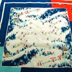 ski hill on 50s scarf