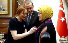 Sputnik Türkiye ///  Lindsay Lohan, Cumhurbaşkanlığı Külliyesi'nde