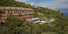 Belmond Hotel Splendido Portofino, Italy Hotels Luxury Travel tree sky plant Coast home mansion terrain City Resort house Sea mountain building Villa Village water