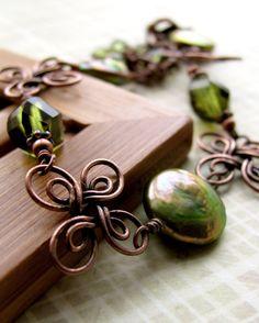 Green Lucky Four Leaf Clover Bracelet
