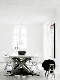 Simple dining area