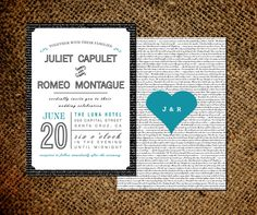 Love Letter Wedding Invitation & RSVP Card - Old Fashioned Style - Double Sided Invite - Printable DIY. $45.00, via Etsy.