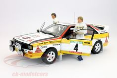 Hersteller: figurenmanufaktur Maßstab: 1:18 Team: Audi Sport Fahrer: Walter Röhrl Fahrzeug: Audi Quattro Serie: Rallye Weltmeister Saison: 1984 Artikelnummer: AE180008 EAN 4250877100082