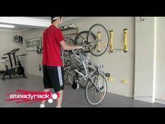 wall mounted bike rack - YouTube