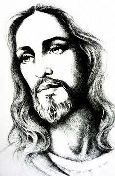 Visite o post para mais - Jesus Tattoo, Christ Tattoo, Art Drawings Sketches, Tattoo Drawings, Jesus Christ Painting, Jesus Drawings, Pictures Of Jesus Christ, Pop Art Wallpaper, Religious Tattoos