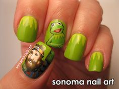 Muppets 'Jim Henson/Kermit the Frog' Nails