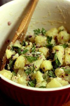 Receita: Salada Morna de Batata com Vinagrete Dijon - Sem Medida Espaço Gastronômico