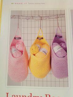 Laundry bags | Inside Crochet Issue 55