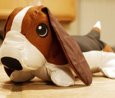 Wilbur the Basset Hound stuffed toy - the real Wilbur tried to steal it for himself...
