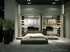 wardrobe room for storage of dress and accessories