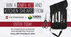 I just entered for a chance to win a professional knife set and kitchen shears from @TundraRestaurantSupply & @VictorinoxSwissArmy! Enter now for your chance to win. #contest #giveaways