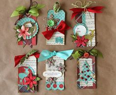 just me and my mary janes: More Christmas Tags! #giftwrap #gifttag #diy