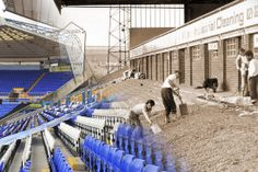 Birmingham City then and now: Old images of St Andrew's blended with images of the stadium today - Birmingham Mail Birmingham City Fc, Old Images, Football Pictures, Football Stadiums, St Andrews, Peaky Blinders, Blues, England, Wall