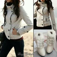Love the jacket and boots!