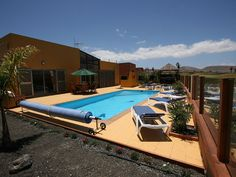 Luxury Villa Private Salt Pool overlooking Golf Course ask for details # - Antigua Island Villa, Canary Islands, Costa, Swimming Pools, Golf, Smoke, Holidays, Park, Bedroom