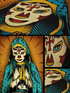 Our Lady of Lucha Libre & Christos Mysterio Jr by Pale Horse, via Behance