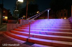 From www.fibreled.com.  The LED is in the handrail.
