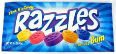 Razzles, always ate these, but never really liked them, go figure.