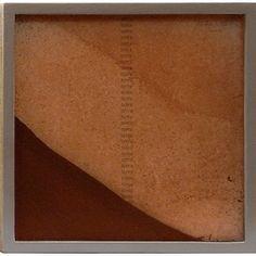 "Tierra (Square) (2006) by Artist: Teresa Pereda | Soil, Handmade Paper, Wood, Glass | Size: 9.8"" x 9.8"" x 1.6"" 26 x 26 x 4 cm. | http://www.objectmythology.com/"