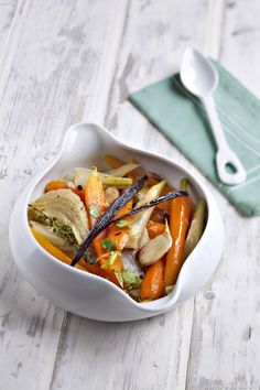 Wild carrot fricassee with vanilla - Healthy Food Mom Sandwiches Gourmets, Healthy Snacks, Healthy Recipes, Tasty, Yummy Food, Gourmet Recipes, Thai Red Curry, Food Print, Stew